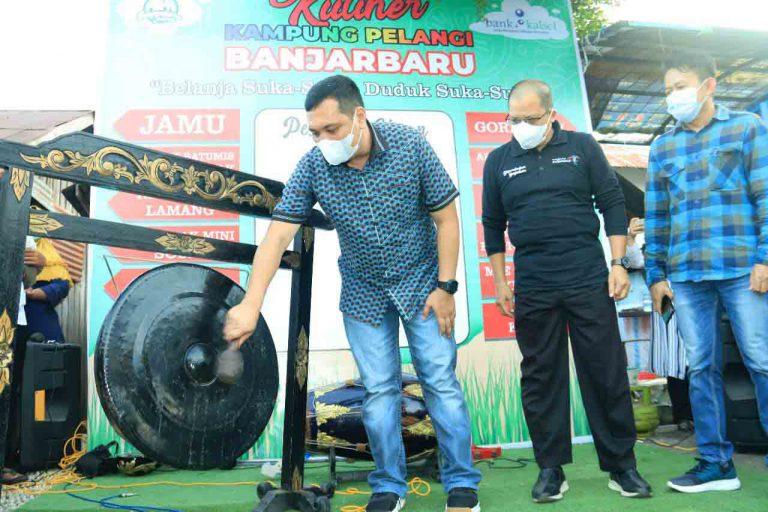 Resmi Dibuka, Kampung Pelangi Banjarbaru Jadi Kawasan Kuliner