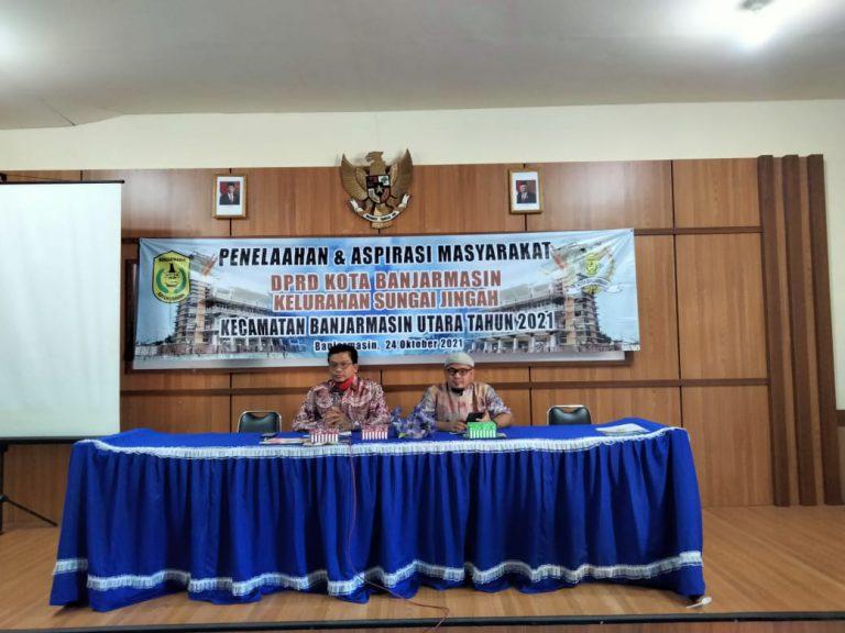 Wakil Rakyat Dapil Banjarmasin Utara Serap Aspirasi Warga Sungai Jingah